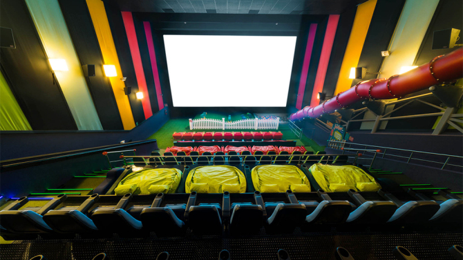 Playground INSIDE theater.  Good idea?