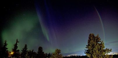 Northern Lights Over Vernon