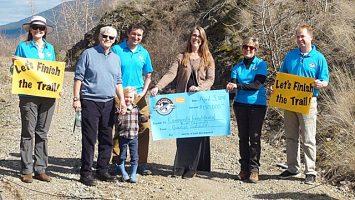 Vernon Resident Pledges Big Support For Trail