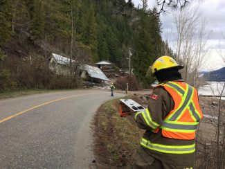 Update: Landslide In Shuswap, Road Reopens