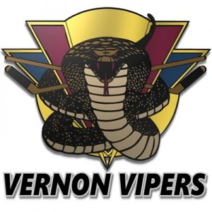 Vernon Vipers Tie Series With Vees