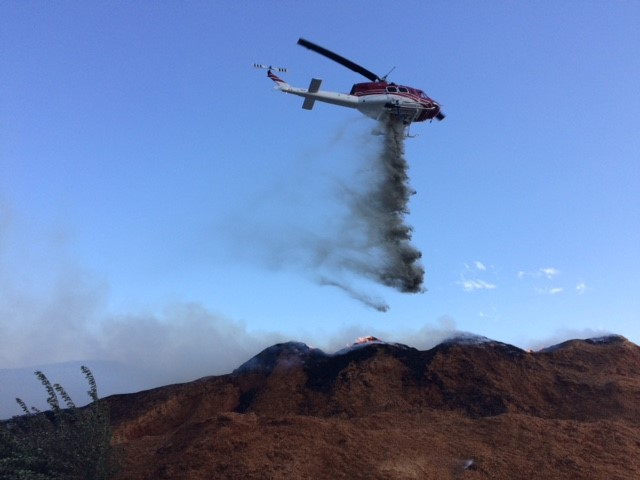 Shavings Pile Fire At Coldstream Ranch