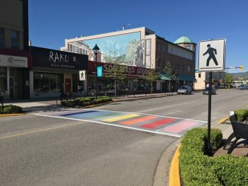 Rainbow Crosswalk Added To Downtown