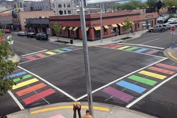 Update: Weather Delays Vernon's Rainbow Crosswalk