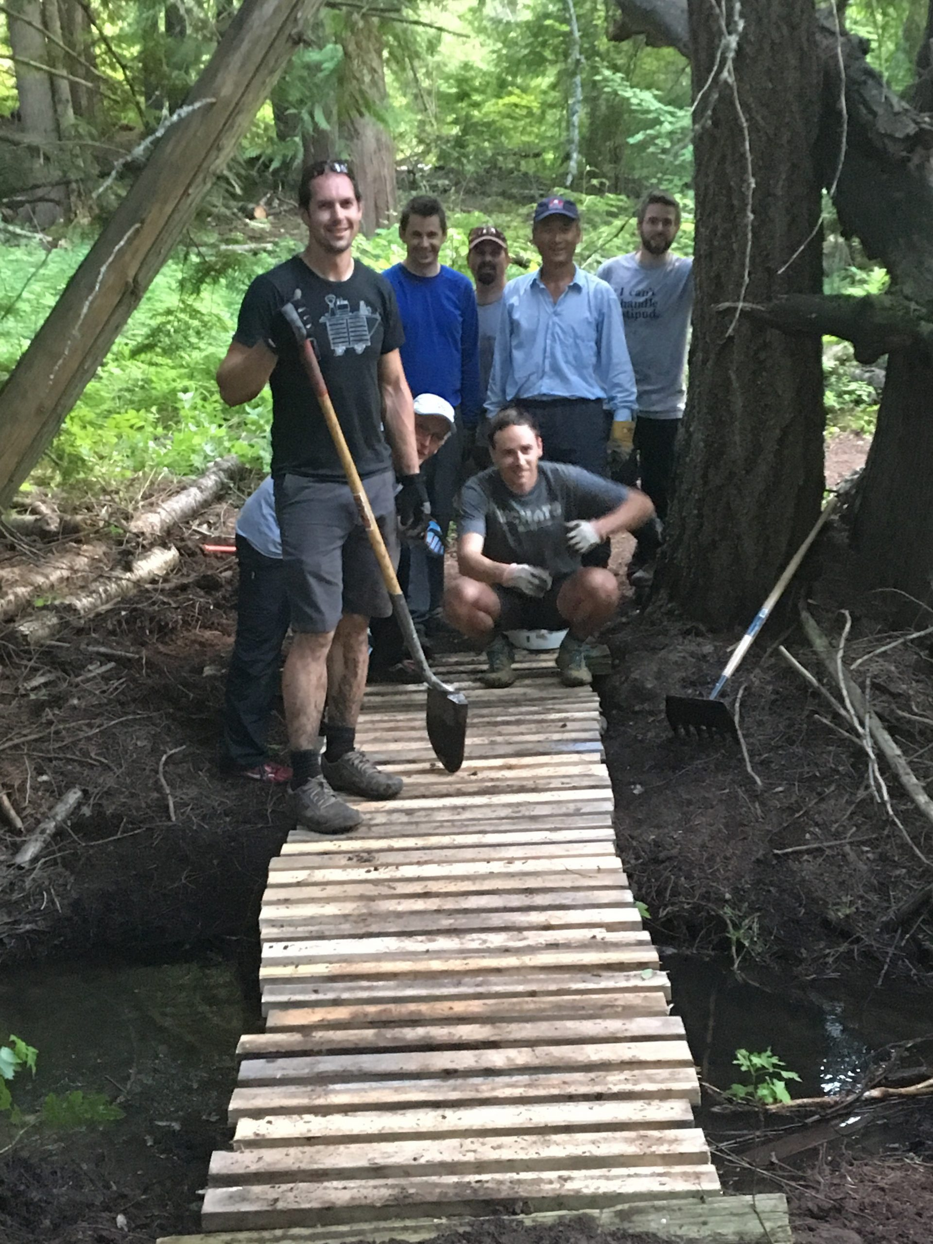 Trail Fixers Hard At Work