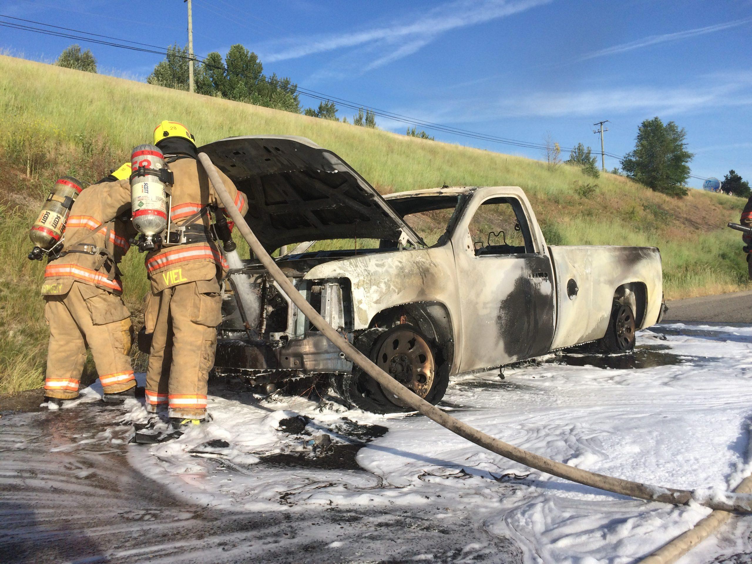 Pick Up Burns Near Swan Lake
