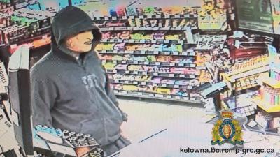 Kelowna RCMP Seek Armed Robber