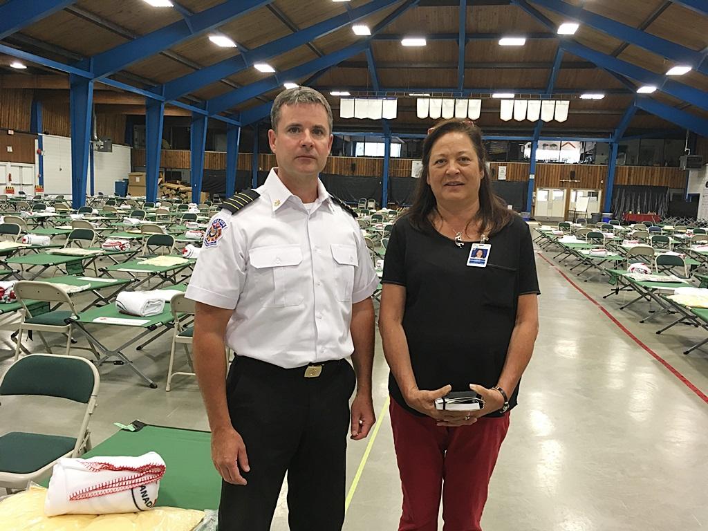 Clinton Fire Evacuees Register at Vernon Centre