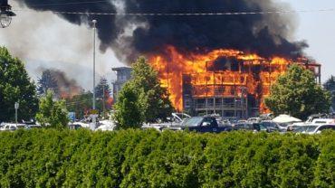 Massive Building Fire in Kelowna