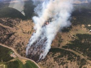 Update: Some Containment On Monte Lake Fire