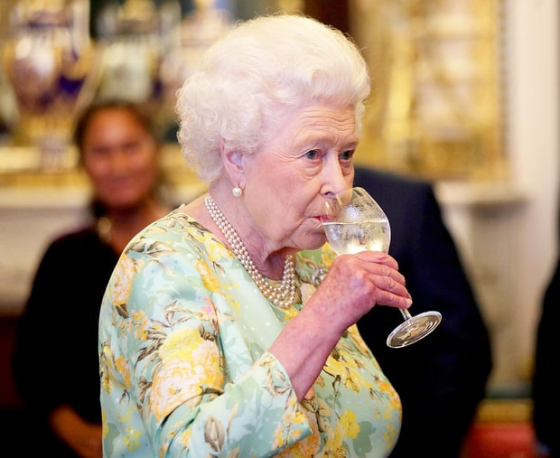 Who likes to booze it up?  The Queen!