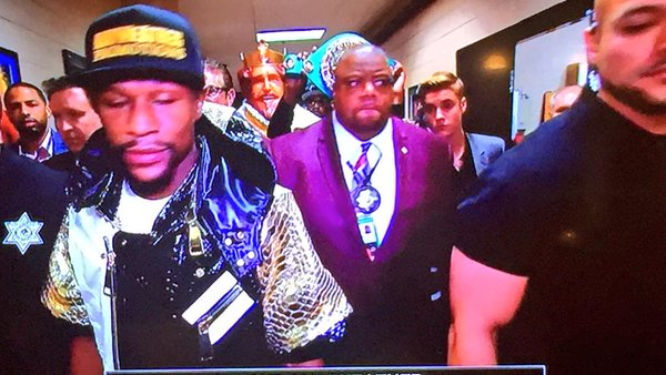 Floyd is preparing for his bout....HOW?!