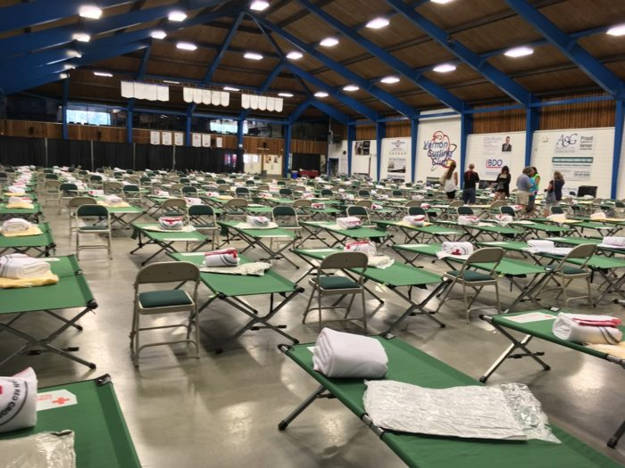 Fire Evacuee Facilities Closed Down