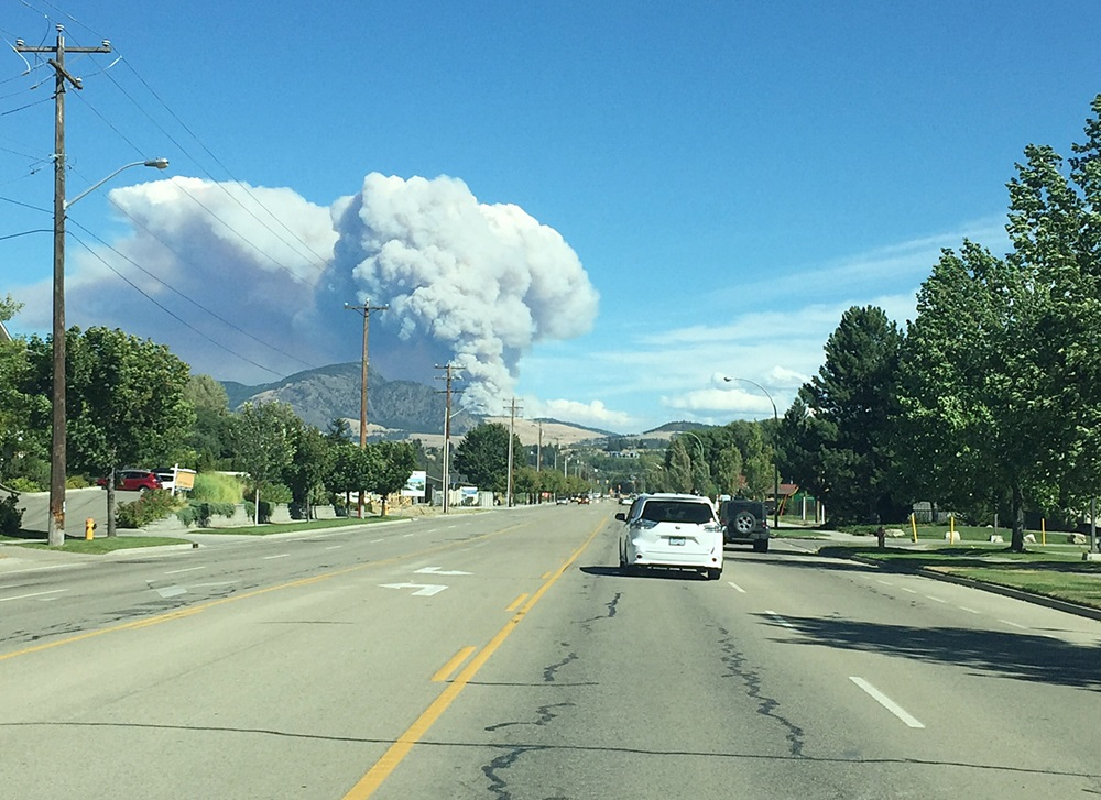 Wildfire East Of Kelowna 380 Hectares; 1,100 Residents Under Evacuation Order
