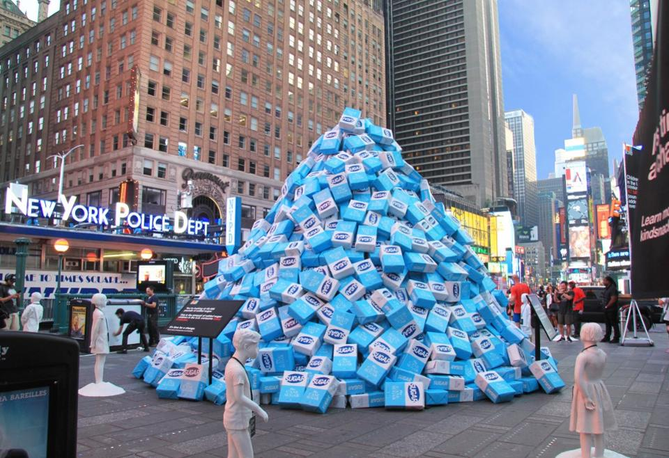 Who dumped ALL that sugar in Times Square?