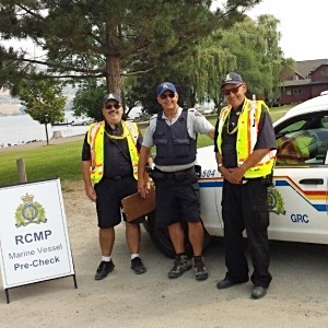 RCMP Volunteers In Park