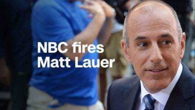 NBC Fires Matt Lauer for 'Inappropriate Sexual Behavior'
