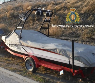 Kelowna RCMP Stolen Boat and Trailer Alert