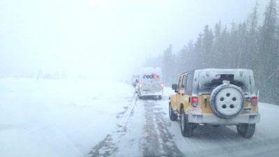 Snowfall Warning on High Mountain Passes
