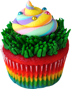 Say hello to the Unicorn Poop cupcake