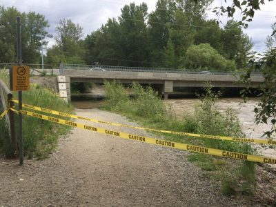 Mission Creek Greenway Casorso Underpass Closed