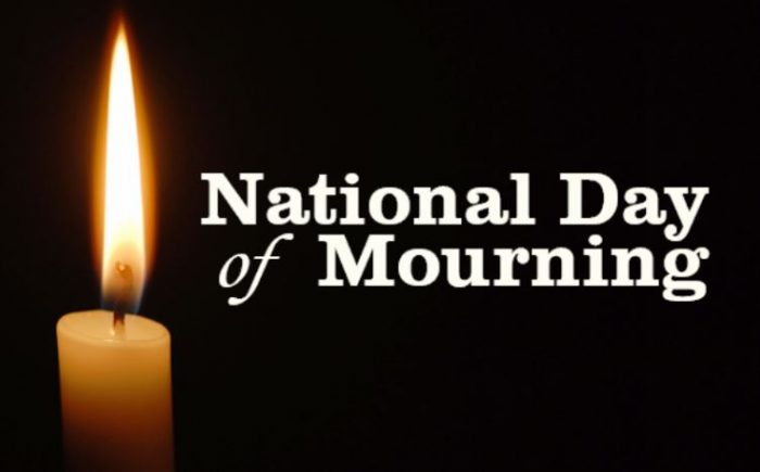 City To Mark National 'Day of Mourning'