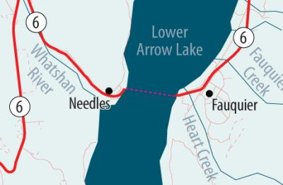 Needles Ferry Down During Slow Times This Weekend