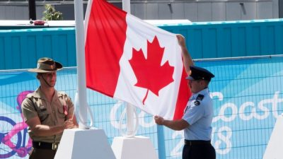 Aussies Salute Canadians at Commonwealth Games