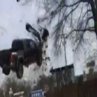 Truck goes Airborne