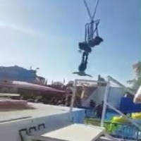 Woman has close call on Swing