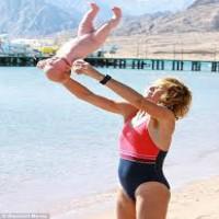 Baby flipping Yoga