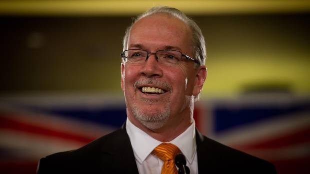 NDP Leader John Horgan to be BC's Next Premier