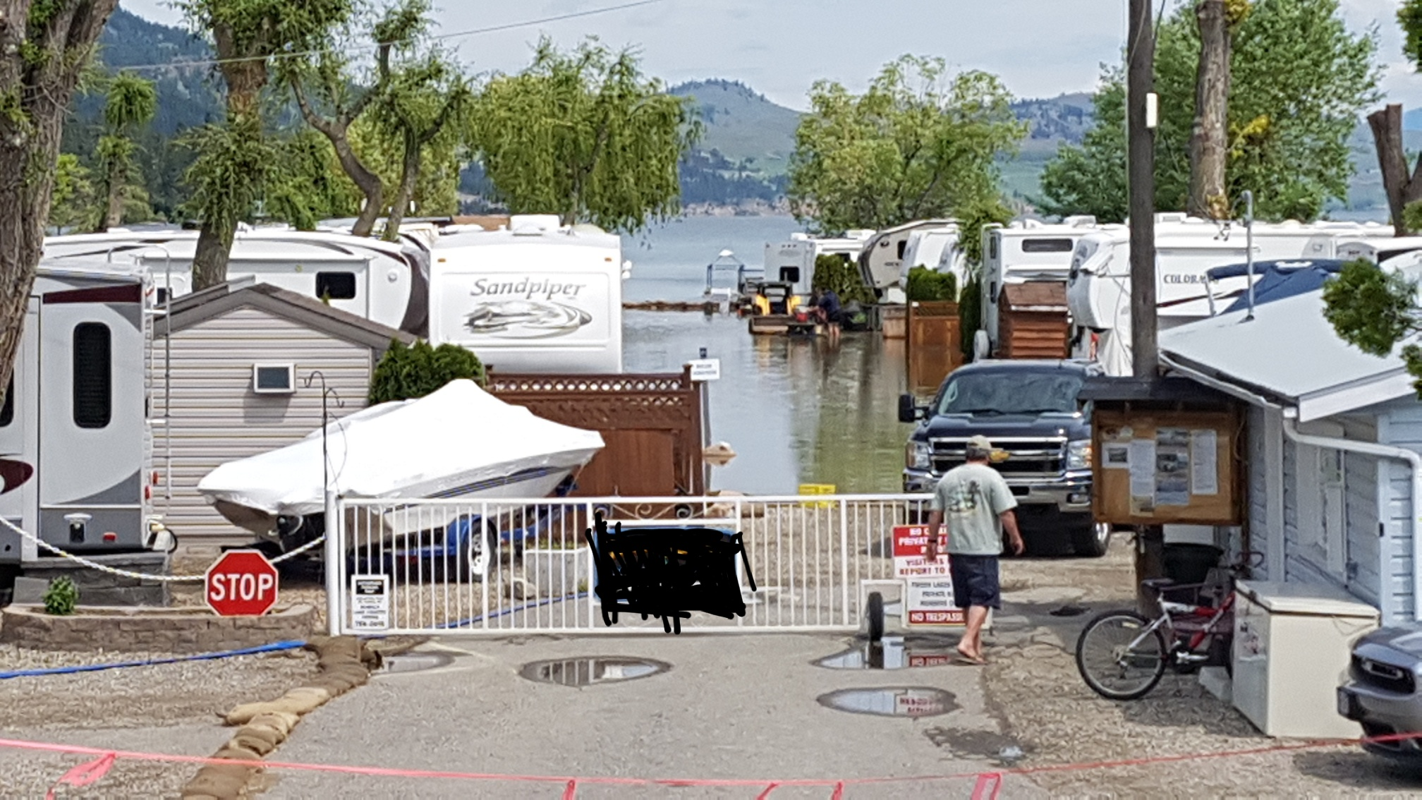 Another Plea to Stay Off the Lake and the Barricades, Siya Celebration Today in Westbank and Cops on Bikes in Kelowna