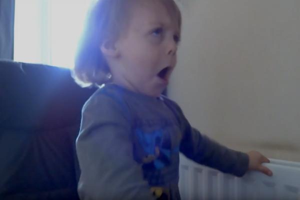 Headbangin' Toddler Loves Metallica