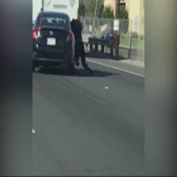 Woman Dragged By Car on Freeway