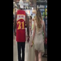 Dude Walks His Girl Around The Grocery Store On A Leash And Wearing A Dog Muzzle!