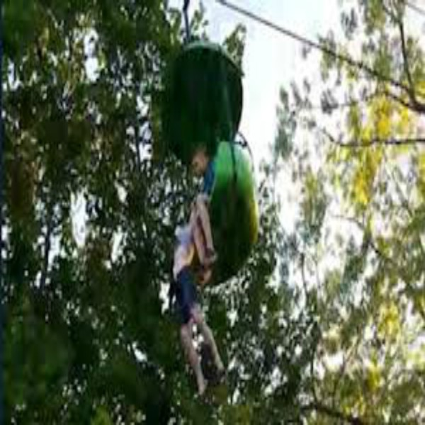 Girl hangs from Six Flags amusement park ride before being caught by other park guests