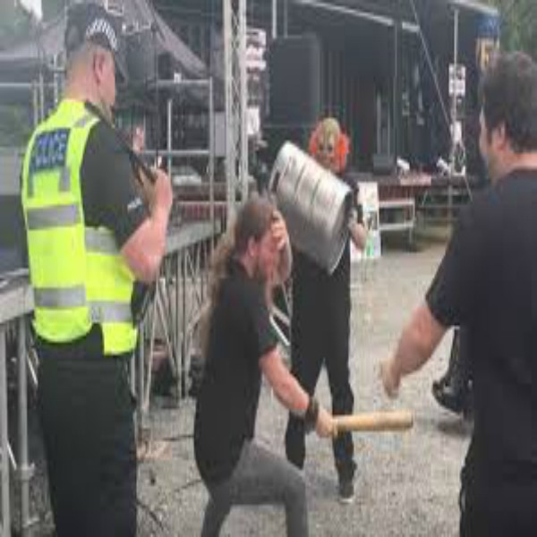 Guy Knocks Himself Out With Baseball Bat at Slipknot Cover Band Show