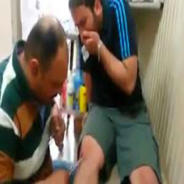 Iraqi Doctor Stitches Up Knee With No Gloves Or Lidocaine! Slaps Patient!