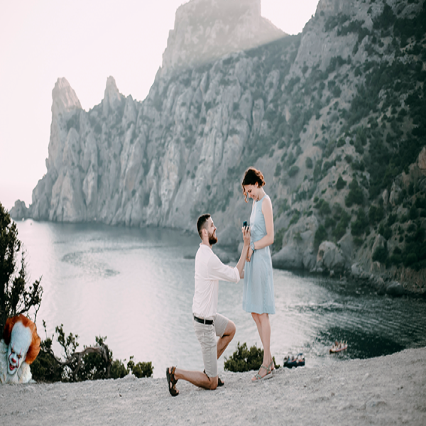 Man's Hilariously Creepy Additions To Sister's Engagement Photos Go Viral