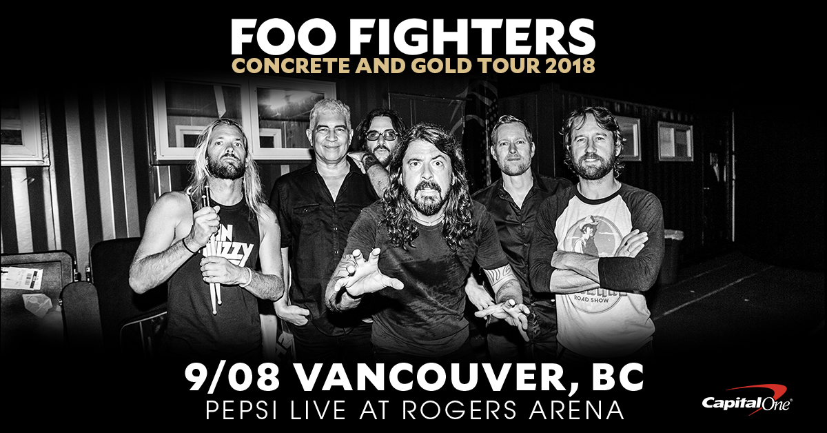 Foo Fighters Saturday September 8th, 2018