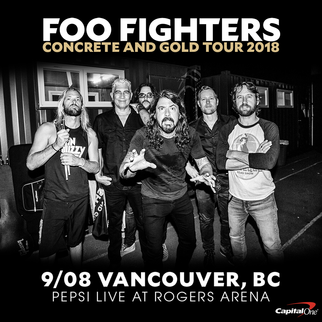 Win tickets to the Foo Fighters at Rogers Arena, Saturday September 8th, 2018