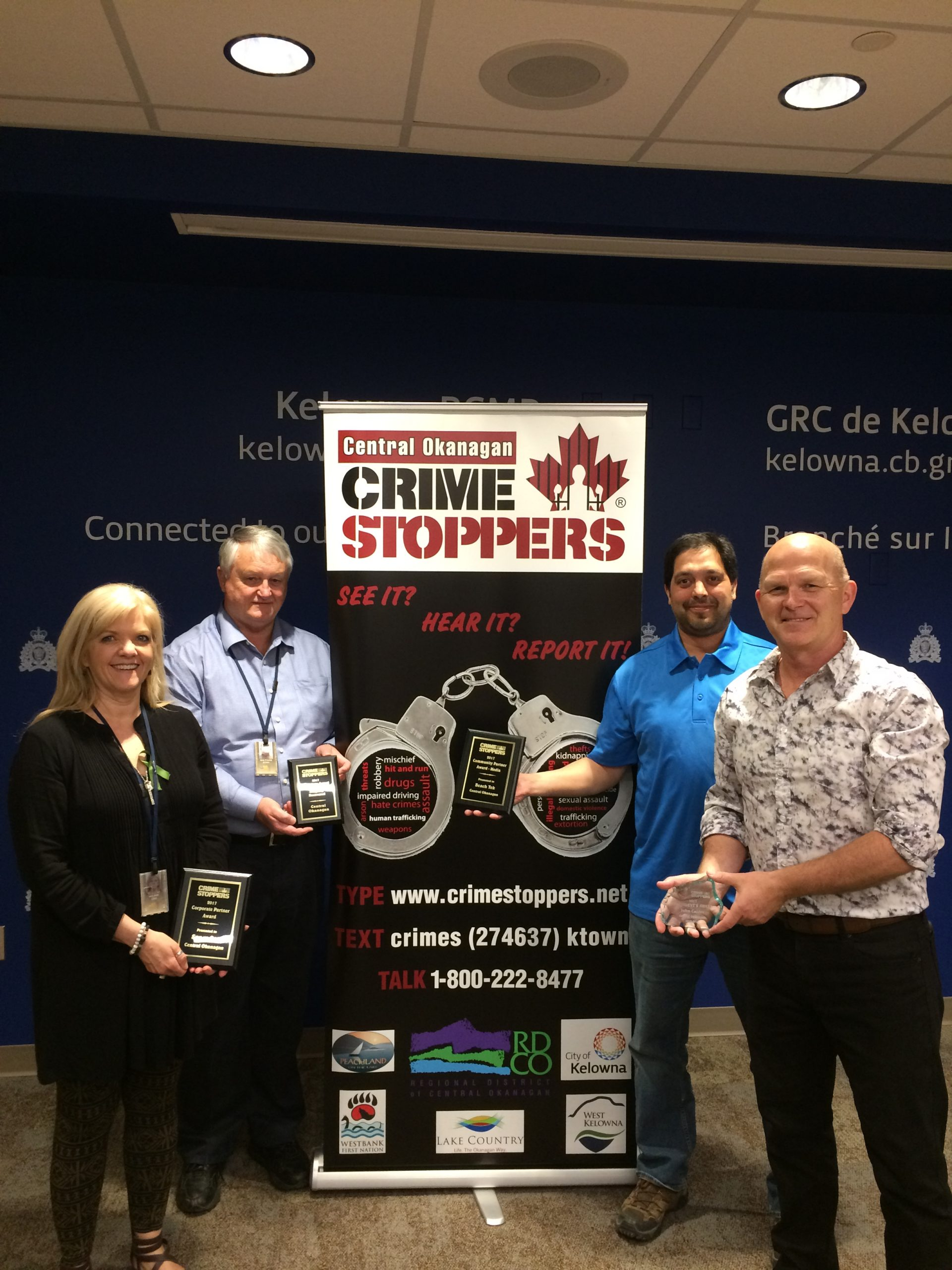 Central Okanagan Crime Stoppers Receives Awards