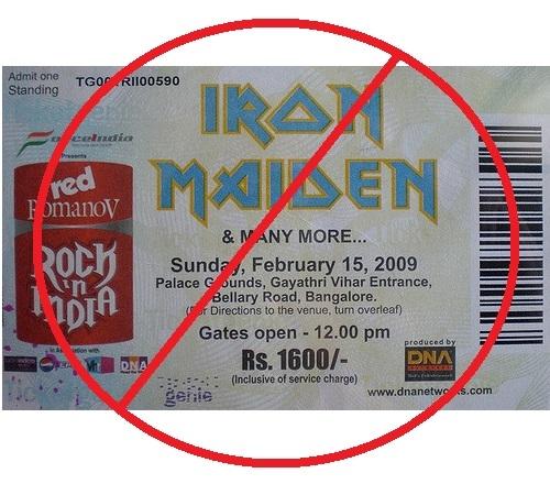 Iron Maiden Tickets Go Paperless