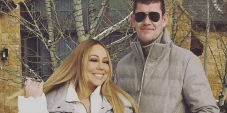 Mariah Carey has a brand new piece of jewelry ..a MASSIVE engagement ring!