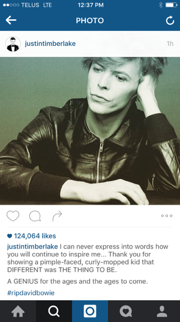 What celebrities had to say about David Bowie's death.