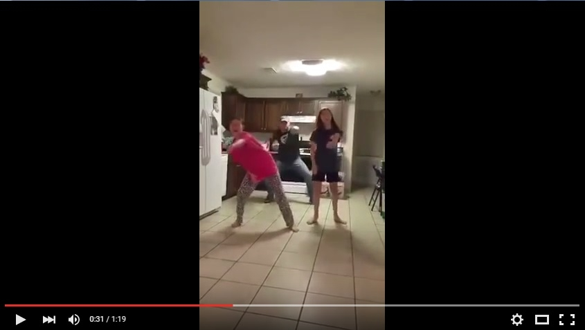 Most Amazing Father Video Bombs His Daughters Making A Dance Video And Absolutely Kills It!! - WATCH