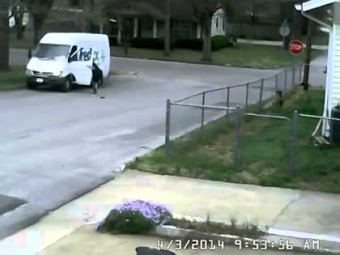 Dogs Chase FedEx Driver, Then FedEx Driver Chases Mail Truck - Hilarious - WATCH