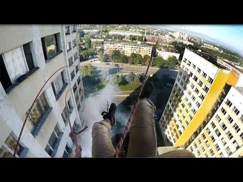 Would You Ride This 18 Story Rope Swing?!? - WATCH
