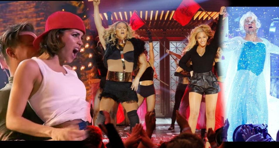 Channing Tatum Brings Out 'Frozen' & BEYONCE To Outdo Jenna Dewan Tatum's Magic Mike Dance on Lip Sync Battle!